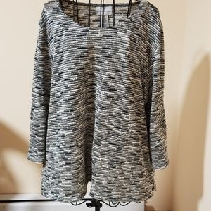 Alfred Dunner black and white sweater size XL